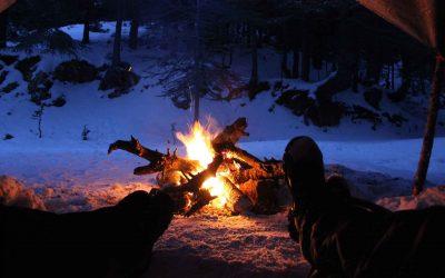 Come accendere un fuoco sulla neve