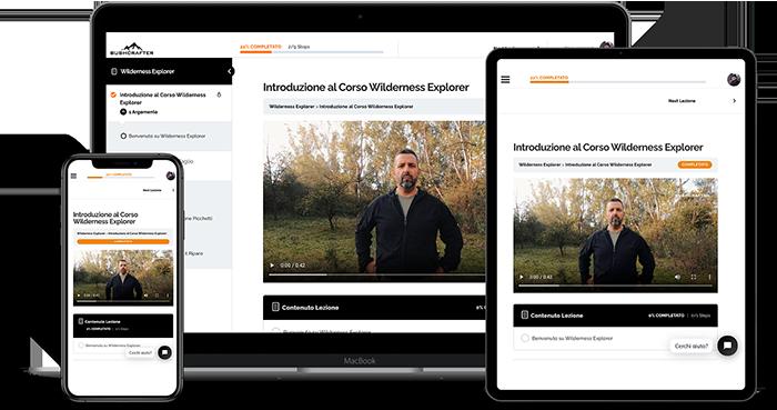 corso online bushcrafter wilderness explorer